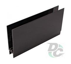 Down horizontal profile L-5,5m Black Wood DC OptimaLine
