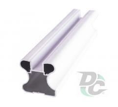 Vertical closed profile L-5,1m White Gloss DC OptimaLine