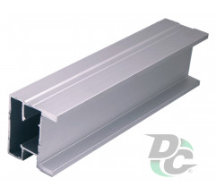 Vertical profile SQUARE L-5,1m Silver DC StandardLine