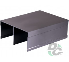 Railing holder Retro matt chrome (aluminium) DC OptimaLine
