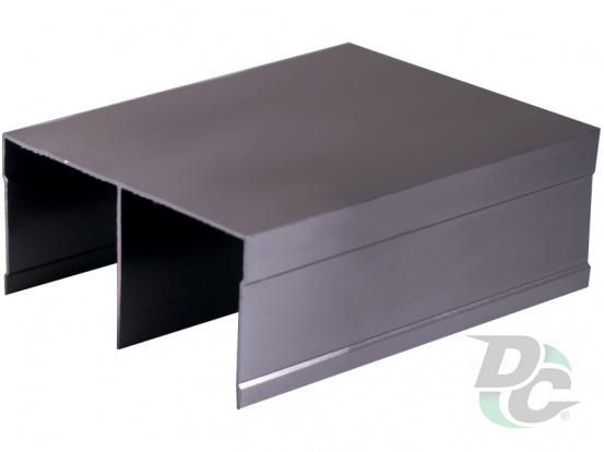 Bavaria/Modena fastened top slide L-5,5m Matt Graphite DC ProfiLine