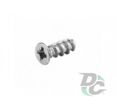 Screw EURO 5x13mm flat head Galvanized DC