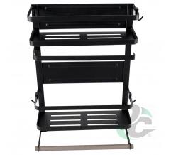 Magnetic Refrigerator Rack Black