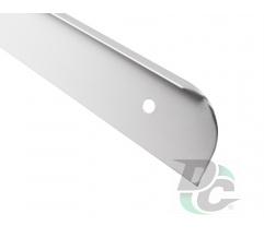L-shaped Aluminium profile for worktop left 28mm DC OptimaLine