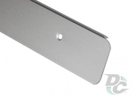 U-shaped Aluminium profile for worktop left 28mm DC OptimaLine