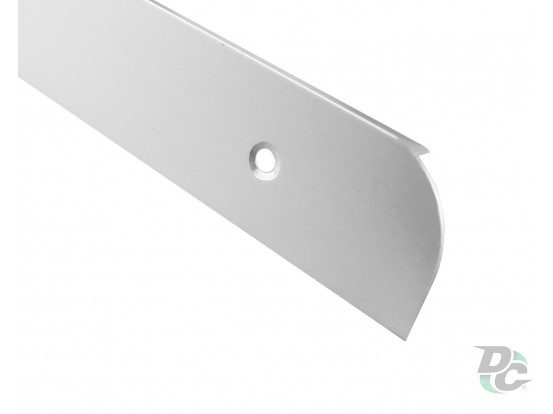 L-shaped Aluminium profile for worktop right 28mm DC OptimaLine