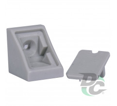 Single mounting corner Light Grey DC