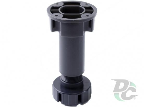 Ktchen adjustable plastic leg H-100 Black DC EuroLine
