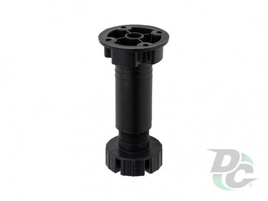 Black kitchen adjustable plastic leg H-100 DC StandardLine