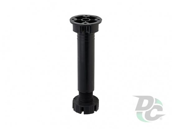 Black kitchen adjustable plastic leg H-150 DC DC EuroLine