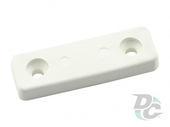 Plastic leg for two srews 5x15x50 mm White DC