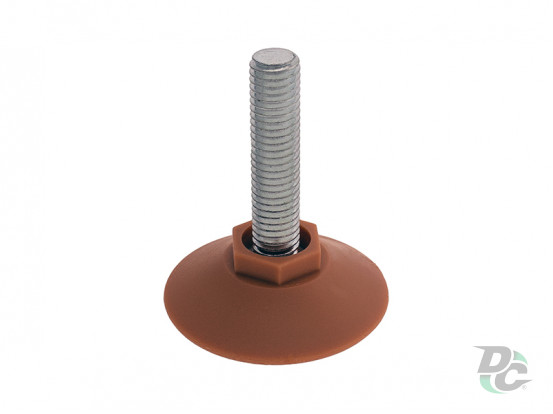 Plastic M10 screw adjustable leg Beech