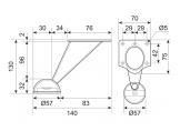 Furniture leg DZ 01/120 G2 Chrome H-130mm DC OptimaLine