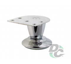 Furniture leg DZ 055/50 G2 Chrome H-50mm conic DC