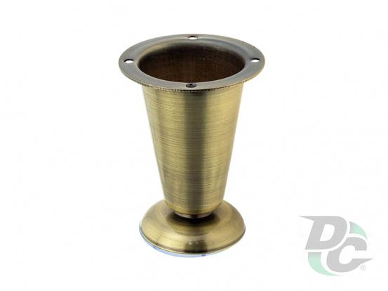 Adjustable furniture leg DZ 09/100 AB Antique Brass H-100mm DC Standard Line