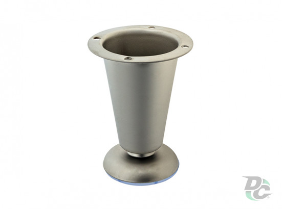 Adjustable furniture leg DZ 09/100 G5 Matte Nickel (Satin)  H-100mm DC Standard Line