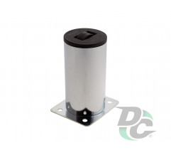 Furniture leg DZ 13/100 G2 Chrome H-100mm D-50 mm with roller DC StandardLine