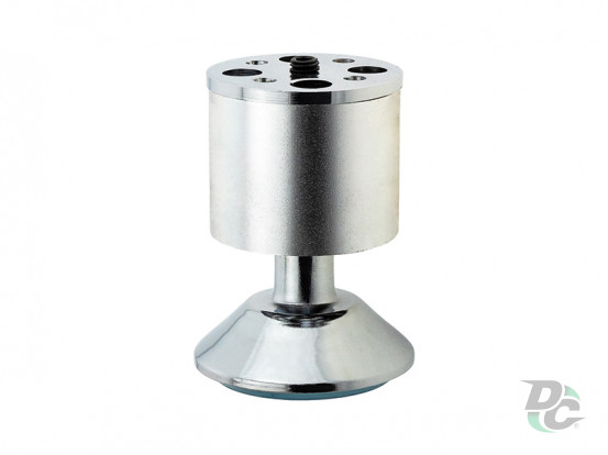 Adjustable furniture leg NL 07/80 H-80mm D-50mm Matte Chrome (Aluminum) / Chrome DC