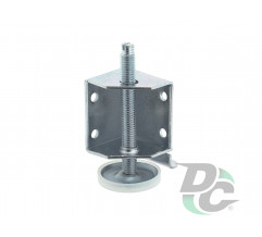 Steel adjustble leg for rolling door wardrobe