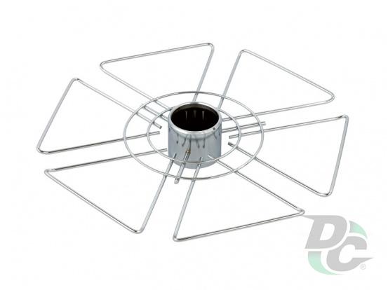 Glass holder I chrome hexagonal DC