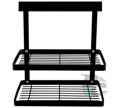 Kitchen doublerack for spices Black