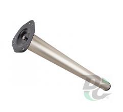 Table leg H-1100 mm d-60 mm Matt Nickel (Satin) DC StandardLine