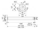 Table leg H-1100 mm d-60 mm Chrome DC StandardLine