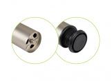 Table leg H-710 mm d-60 mm Matt Nickel (Satin) DC StandardLine
