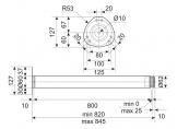 Table leg H-820 mm d-60 mm Matt Chrome (Aluminium) DC StandardLine