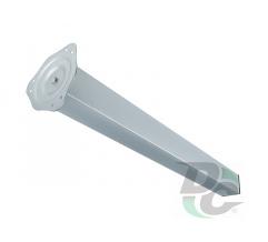 Table leg H-710 mm 60x60 mm Matt Chrome (Aluminium) DC StandardLine