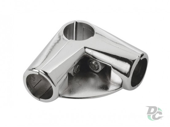 R-43/P/25 angle connector with shelf for tube d-25 DC