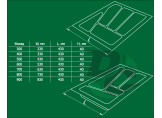 Cutlery tray into section 600 mm Metallic VERSO
