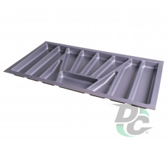 Cutlery tray into section 900 mm Metallic VERSO