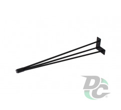 Conic hairpin table leg H-710 Black DC StandardLine