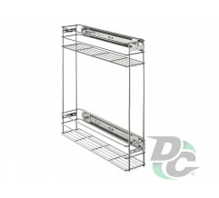 Drawer basket with side fitiings 150/2 Chrome DC