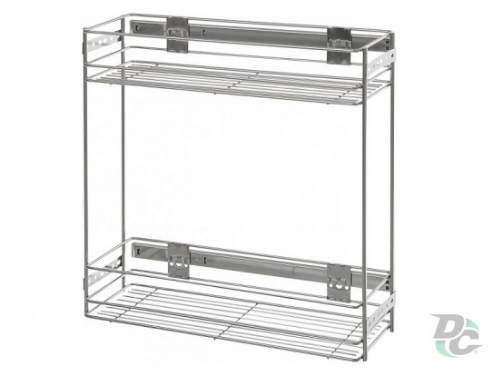 Drawer basket with side fitiings 200/2Chrome DC