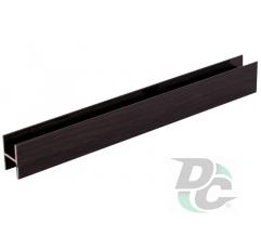 Connecting profile L-5,5m Black Wood DC OptimaLine