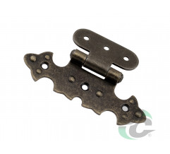 ZS 10 Figure hinge G-330 Old bronze