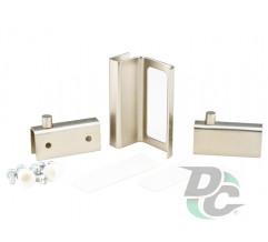 Set for glass ZS 90 DC G5: two hinges + handle Matte Nickel (Satin) DC
