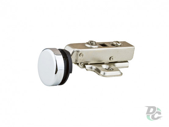 Overlay glass door hinge with gas spring Clip On for hole Chrome DC StandardLine