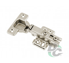 Overlay gas spring hinge with fastened mounting plate Slide On DC OptimaLine