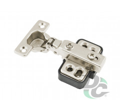 Half-overlay MINI hinge with gas spring DC StandardLine