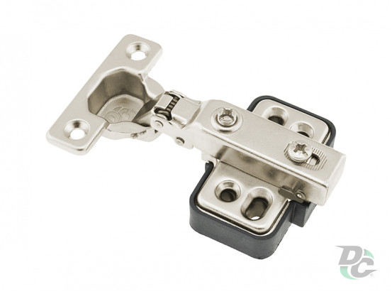 Half-overlay MINI hinge with gas spring DC StandardLine