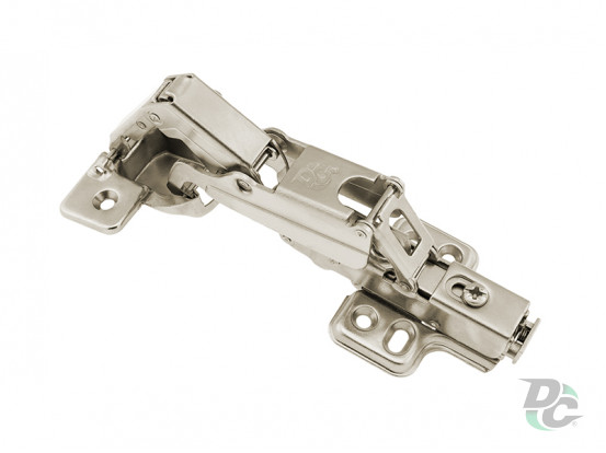 Gas spring hinge-transformer 175 ° Clip On with fastened mounting plate DC StandardLine