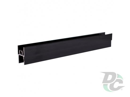 Upper horizontal profile L-5,5m Black Wood DC StandardLine