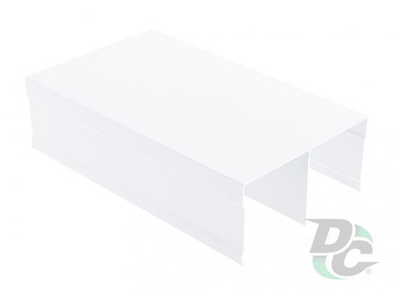 Upper rail  L-5,5m White  Gloss DC OptimaLine