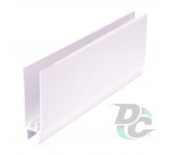 Down horizontal profile L-5,5m White Gloss DC OptimaLine