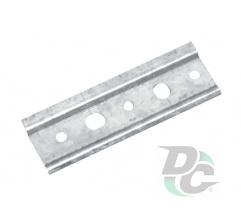 Mounting plate for adjustable cabinet hanger zinc plated L-2000mm DC OptimaLine