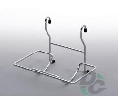 Single rail wire paper rack  Chrome
