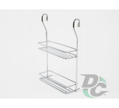 Small  rail double spices wire rack Chrome